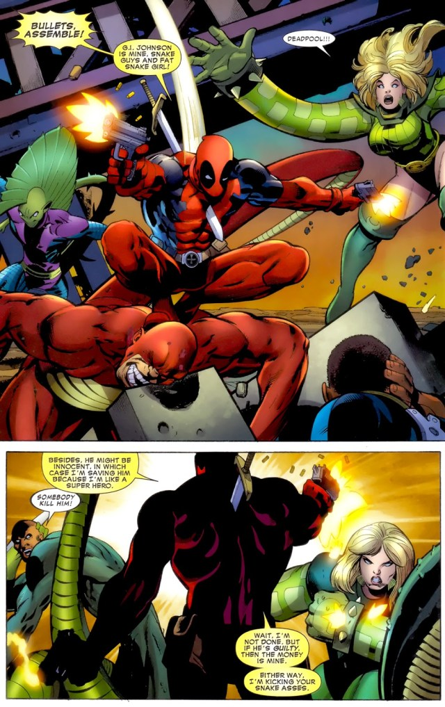 Deadpool VS Serpent Society (Battle Scars)