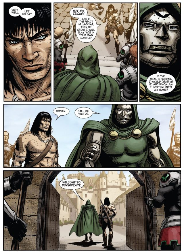 Conan The Barbarian Meets Doctor Doom