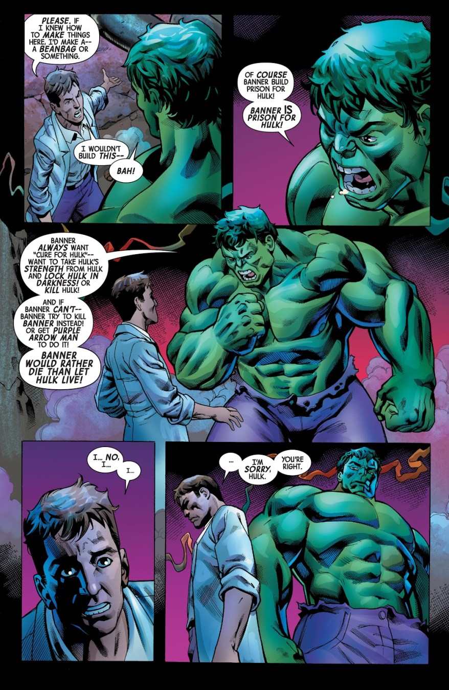 Bruce Banner Apologizes To Savage Hulk