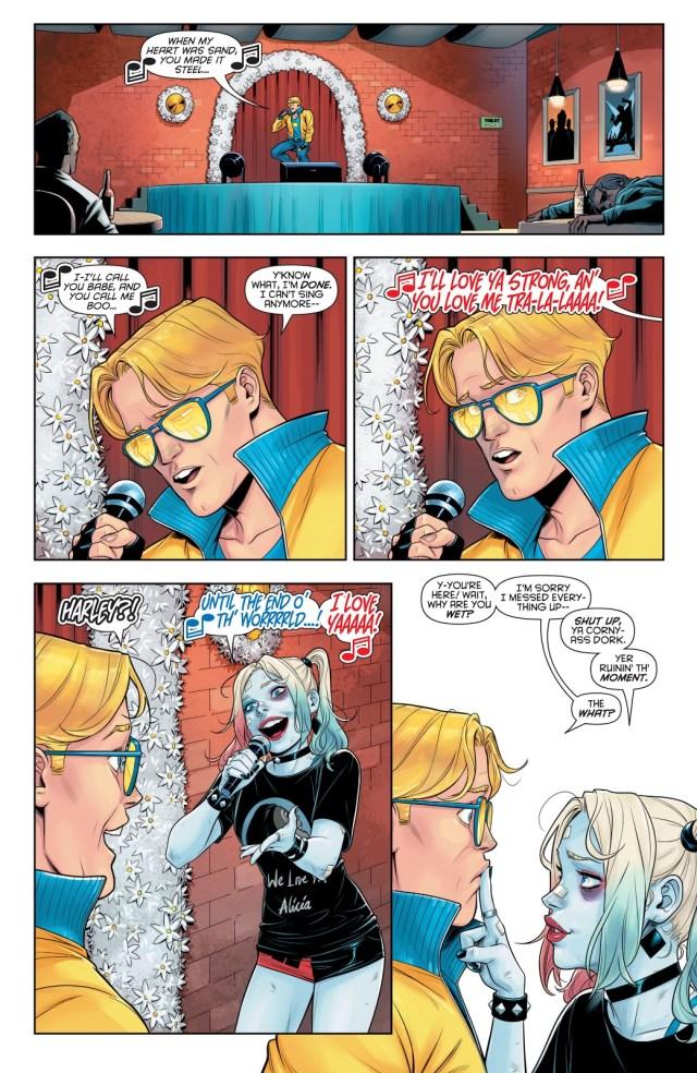 Harley Quinn Kisses Booster Gold