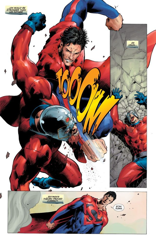 Superman Knocks Out Orion With Just One Punch (DCeased)
