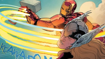 Iron Man Hits Thor With Mjolnir