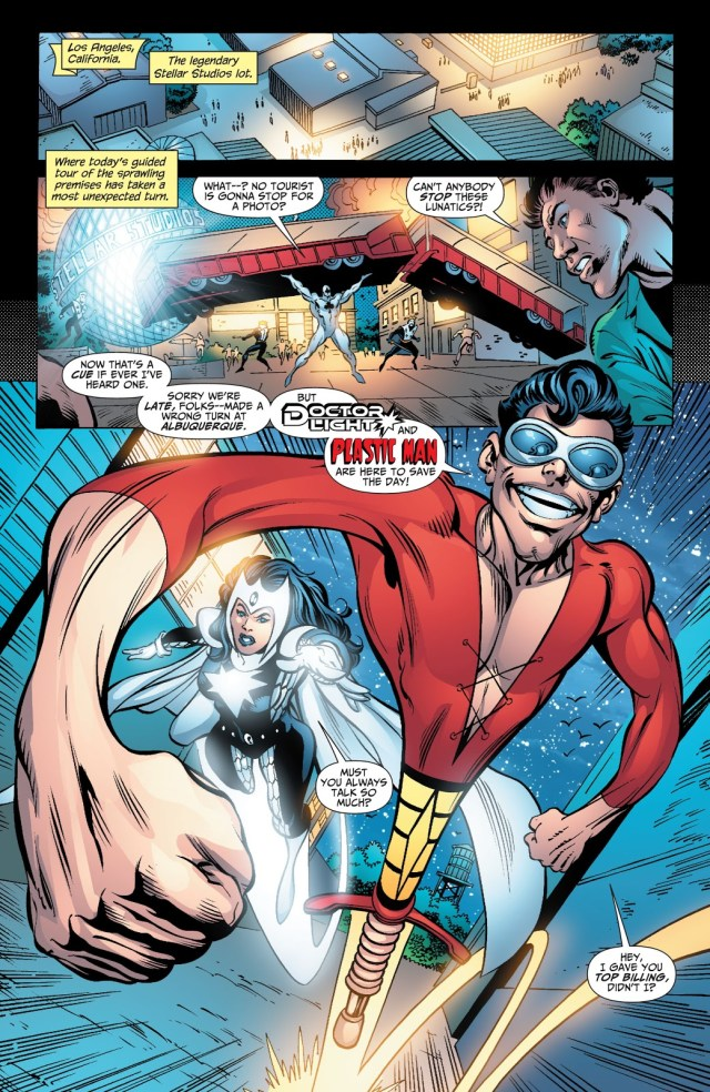 Doctor Light And Plastic Man VS Royal Flush Gang