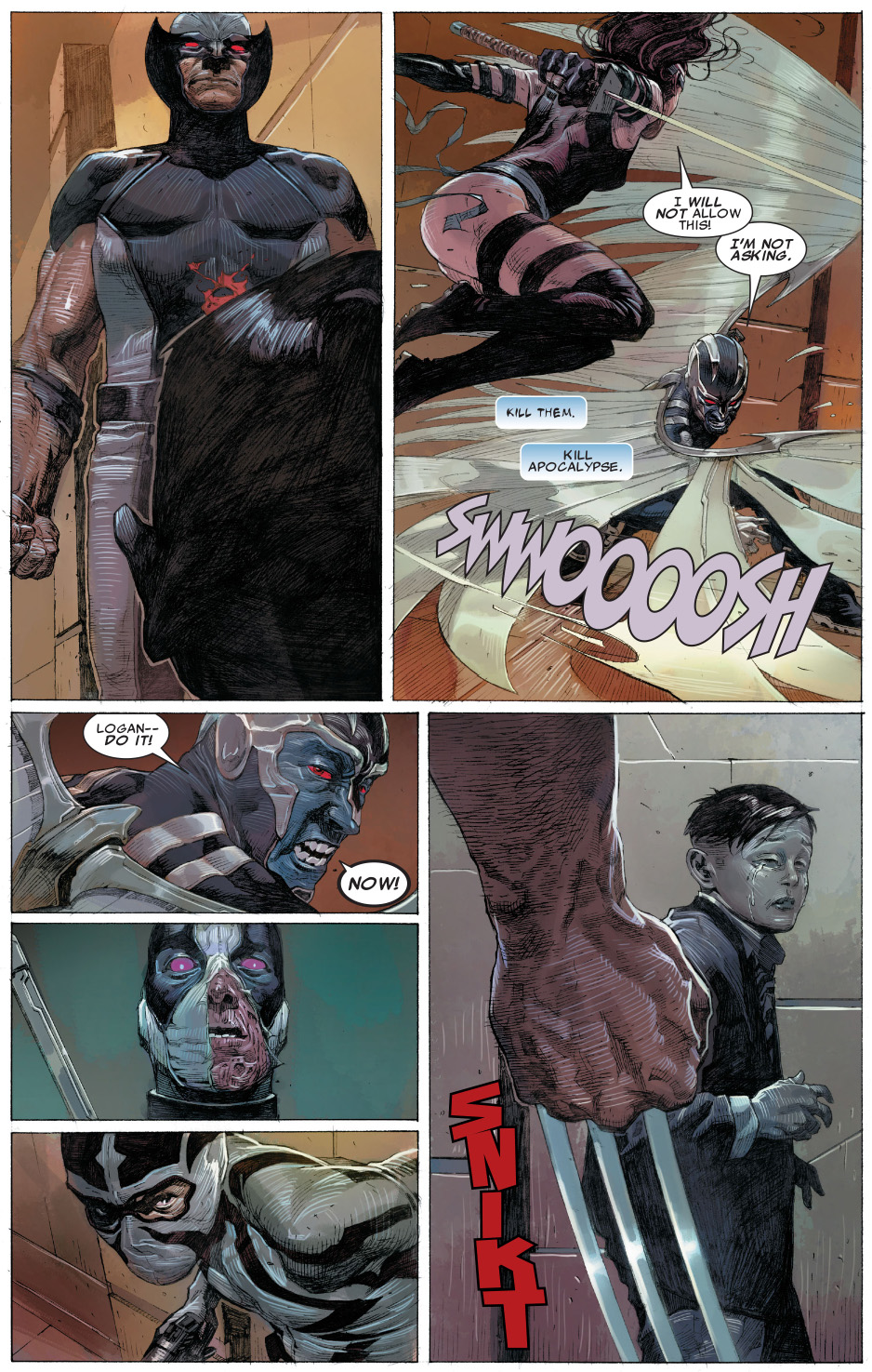 X Force Argue On Killing Young Apocalypse Comicnewbies