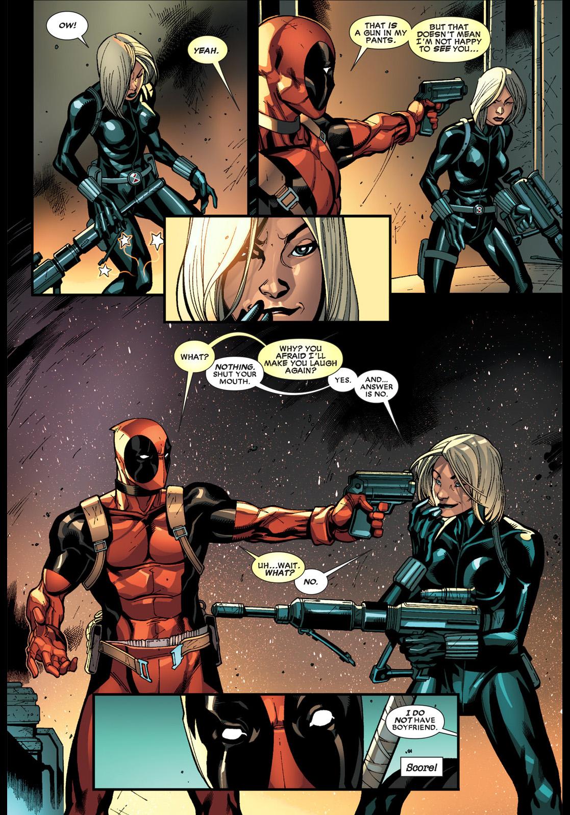 Deadpool Flirts With Black Widow Comicnewbies