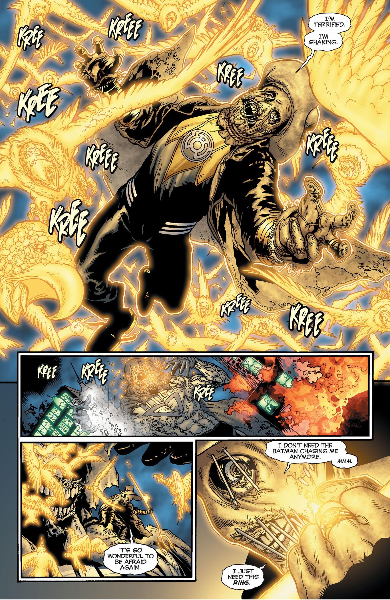 Sinestro Corps Scarecrow VS Black Lantern Spectre