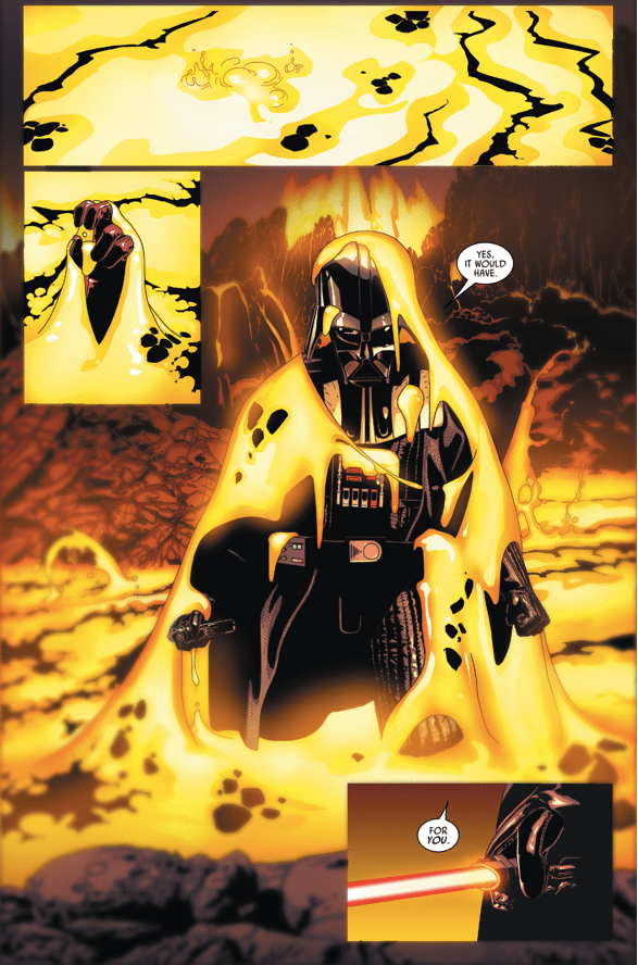 Darth Vader Dream On The Duel On Mustafar Comicnewbies