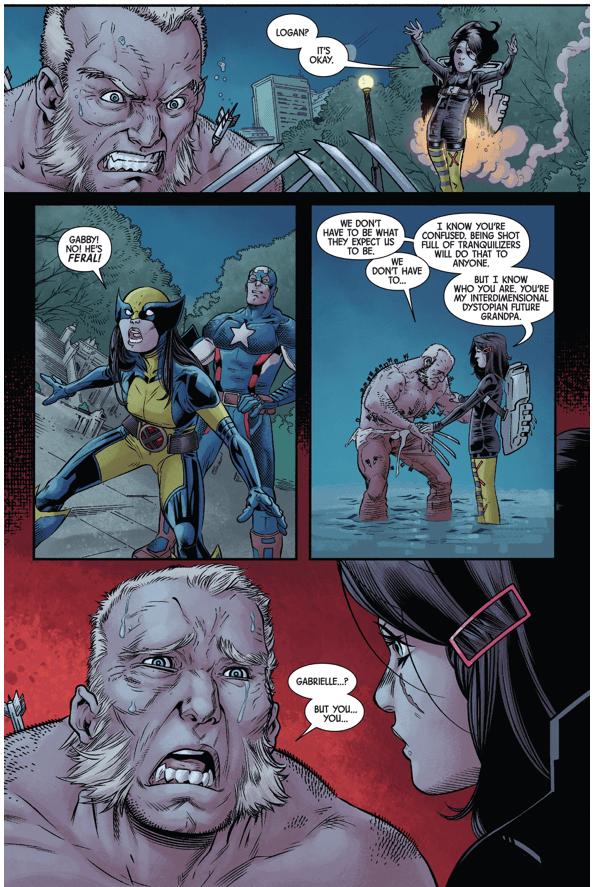 Old Man Logan Stabs Gabrielle Comicnewbies