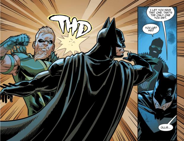 Green Arrow Punches Batman Injustice II Comicnewbies