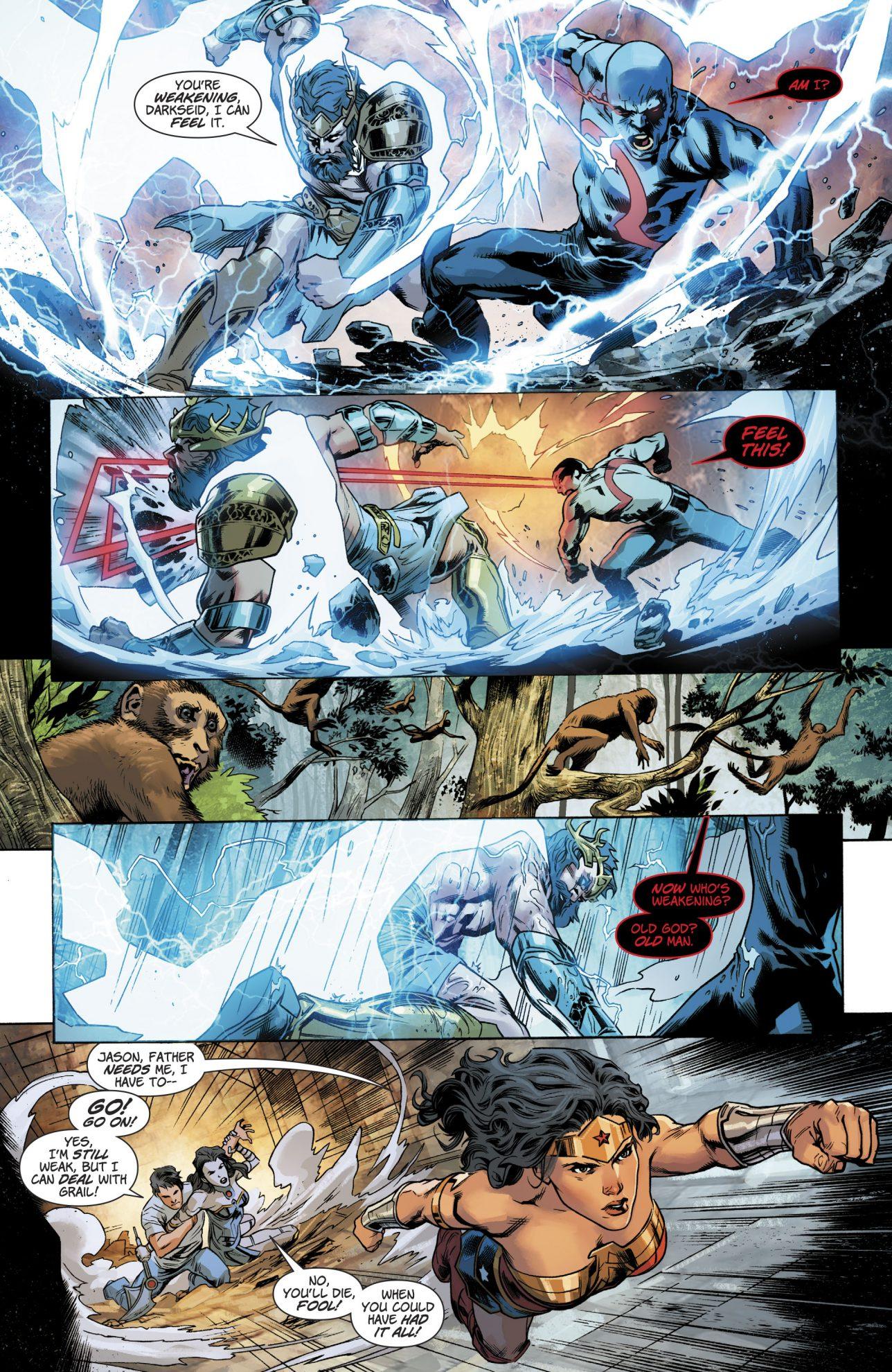 Zeus VS Darkseid Rebirth Comicnewbies
