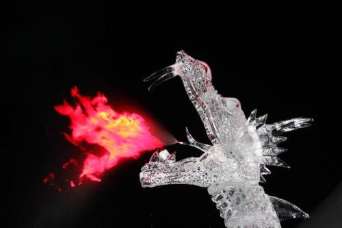 Fire Breathing Ice Dragon