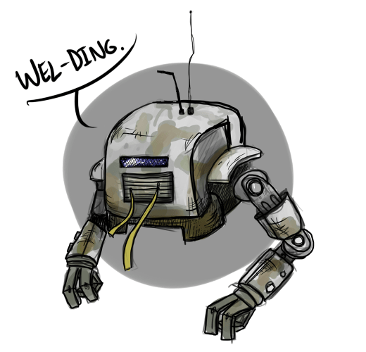 Shitbot by ghastlygoober on tumblr whom he describes as 'the most important character in the game'