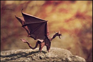 flame origami dragon