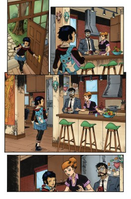 Page of Edge of Spider-Geddon comic book, colored by Diana Sousa
