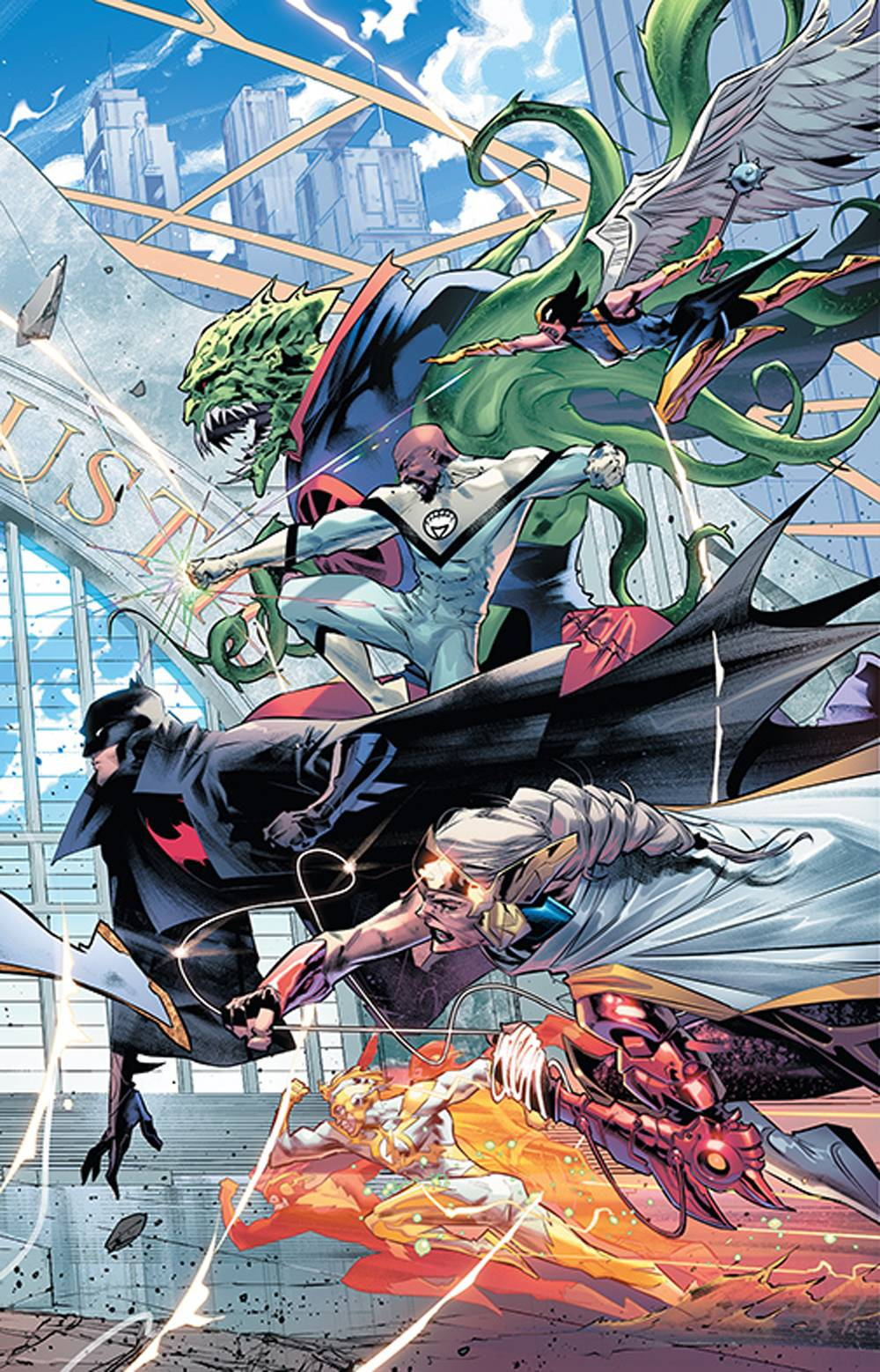 743904_justice-league-20-variant-cover JUSTICE LEAGUE #20 to feature a triptych of Jorge Jimenez covers