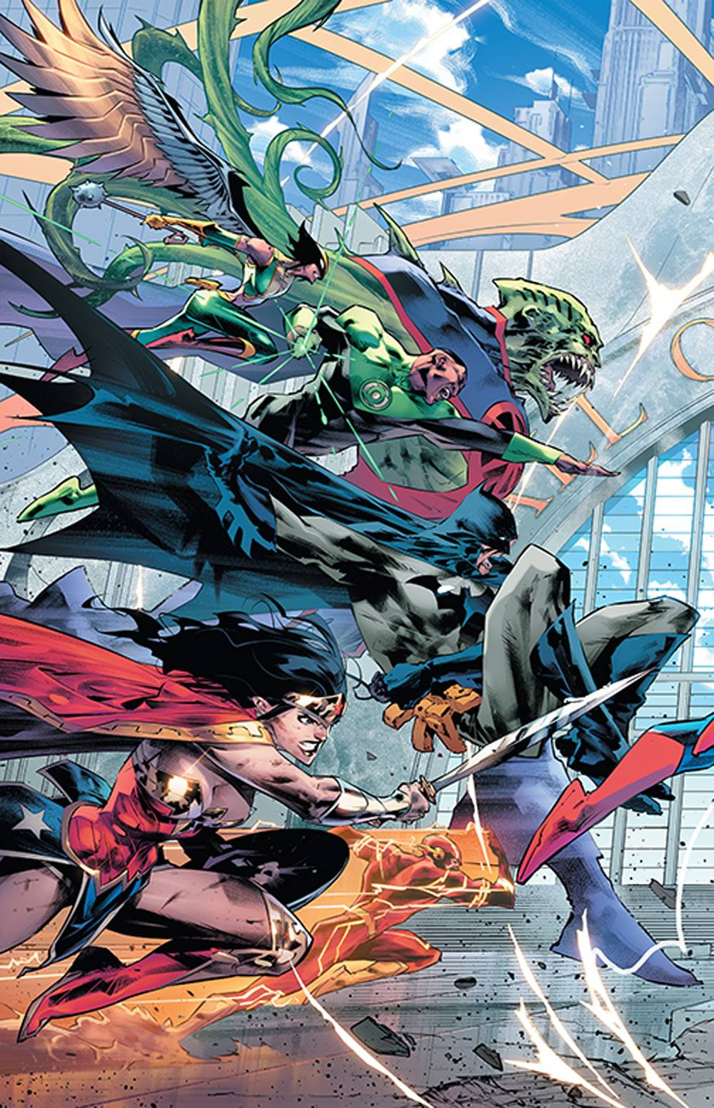 743905_justice-league-20-cover-c JUSTICE LEAGUE #20 to feature a triptych of Jorge Jimenez covers