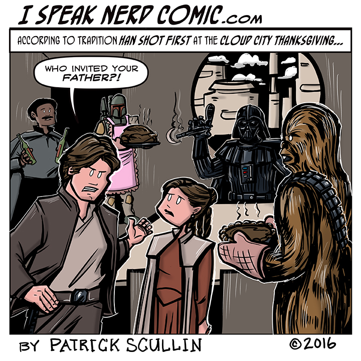 I Speak Nerd Comic Strip Cloud City Thanksgiving