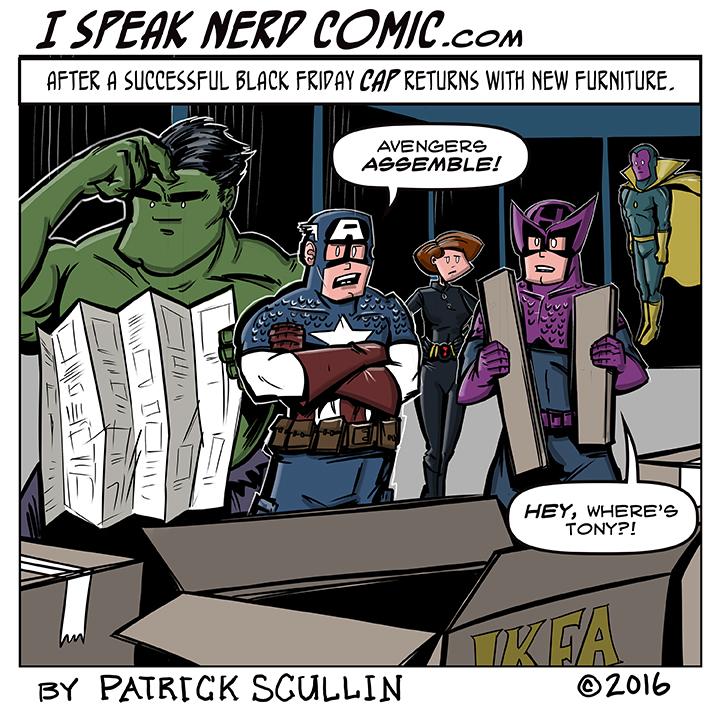 I Speak Nerd Comic Strip Assemble Avengers