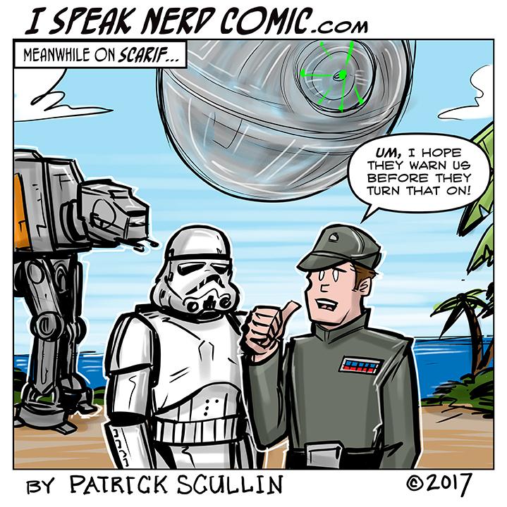 I Speak Nerd Comic Strip Meanwhile on Scarif