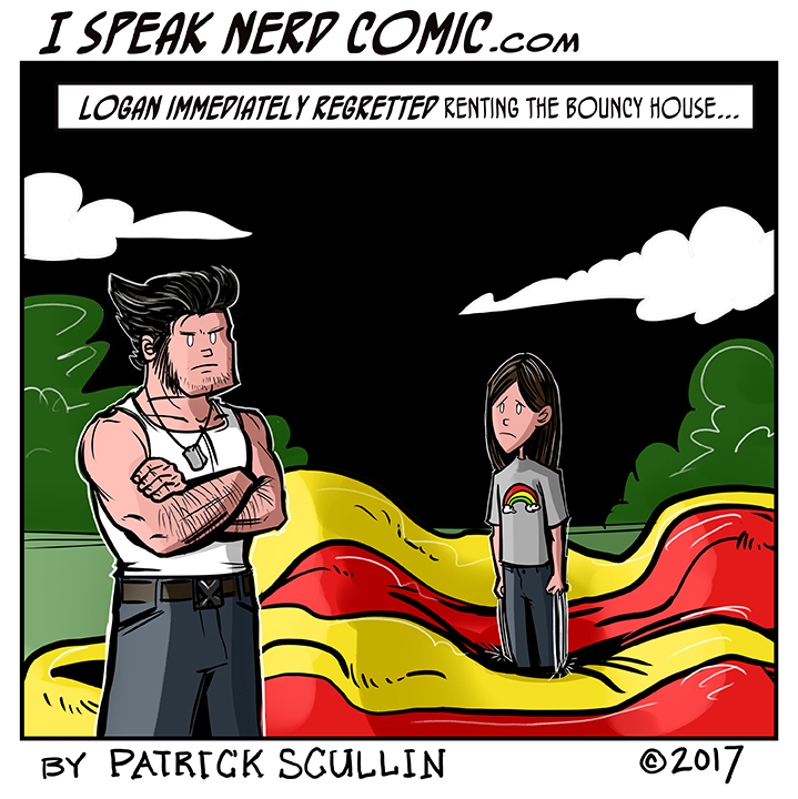 I Speak Nerd Comic Strip X-23 versus the Bouncy House