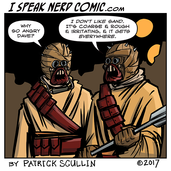 I Speak Nerd Comic Strip Sandy People