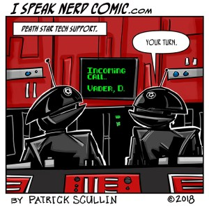 I Speak Nerd Comic Strip Death Star IT