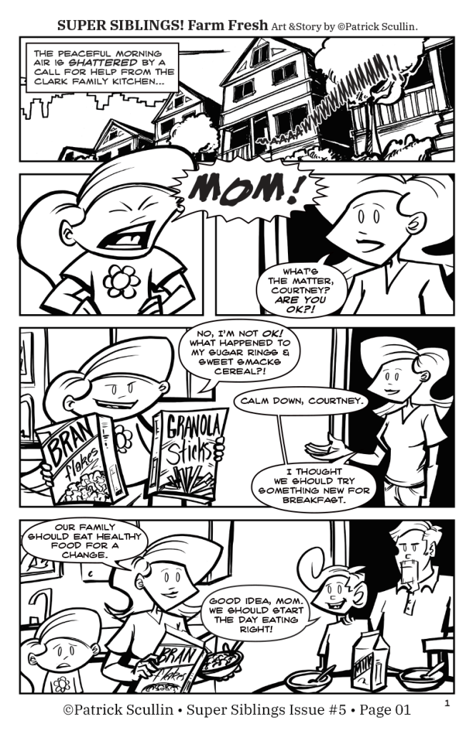 Super Siblings Issue 05 Page 01