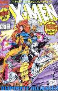Uncanny X-Men comic book cover #281 (New team)