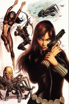 Black Widow color art by Mike Deodato