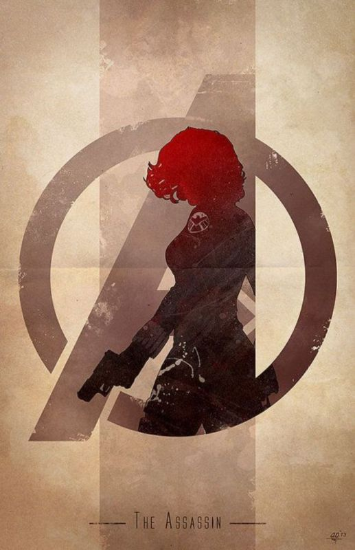 Black Widow minimalist poster by Genuardi