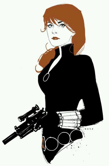 Black Widow art by Phil Noto