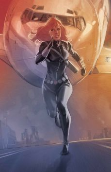 Black Widow running by Phil Noto