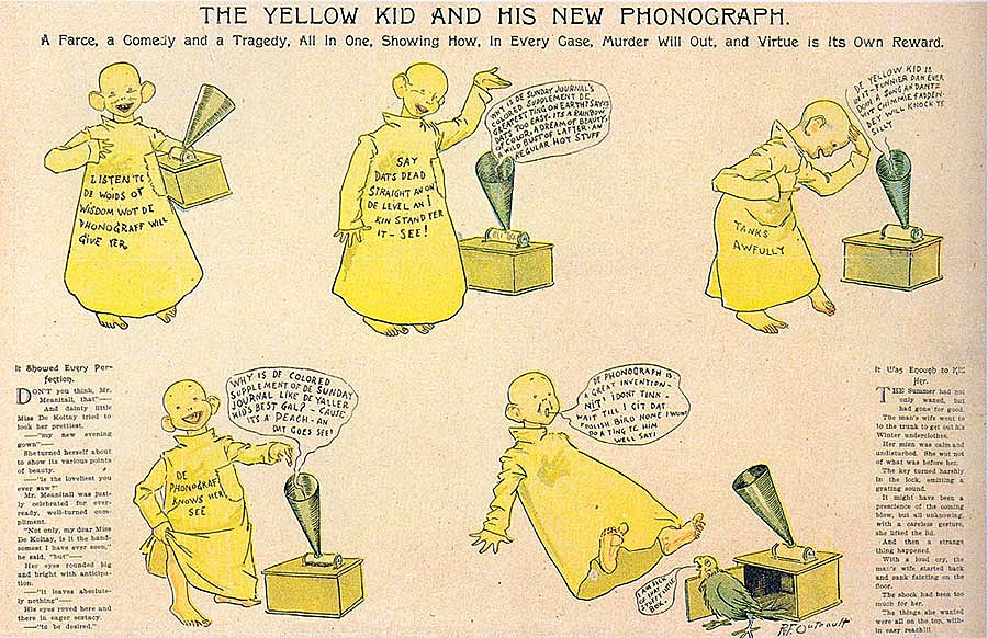 Image result for pulitzer yellow comics