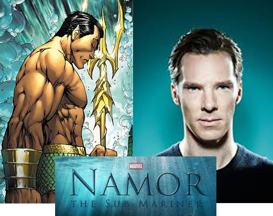 Benedict Cumberbatch playing namor