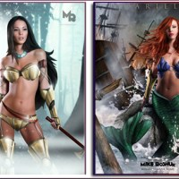 Real Life Sexy Disney Princesses Warrior Art