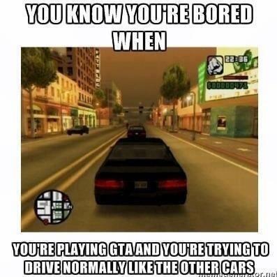 bored GTA meme