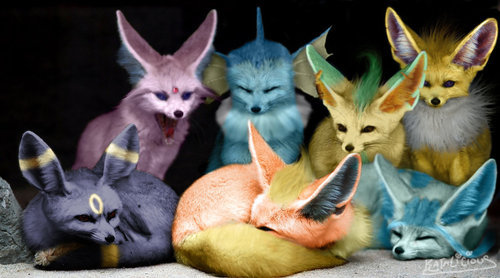 real life like pokemon Evees