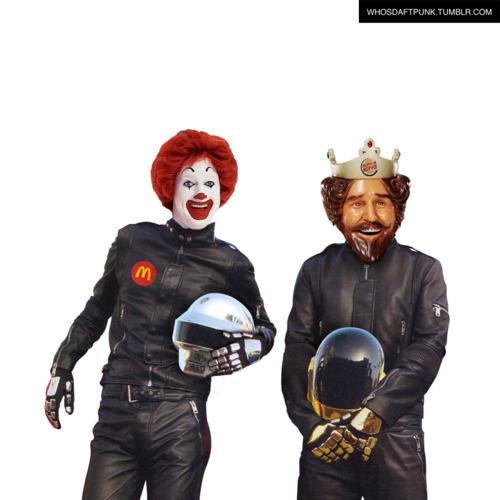 fast food Daft Punk Meme