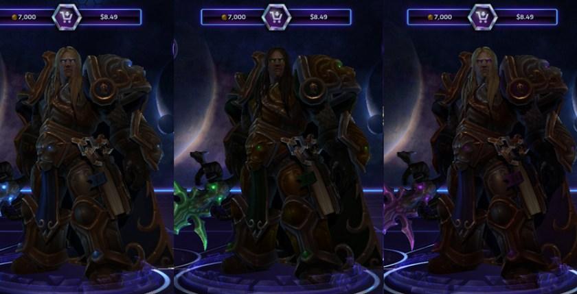 heroes storm Arthas skins crown prince