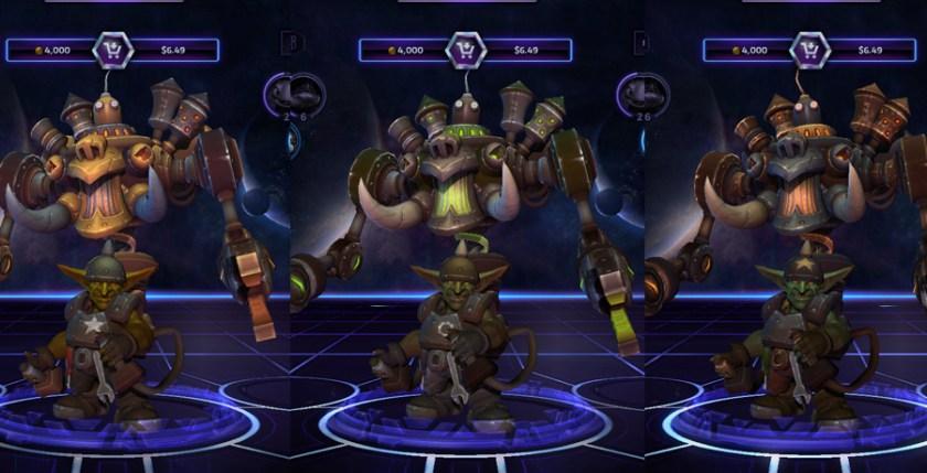 heroes storm Gazlowe skins master