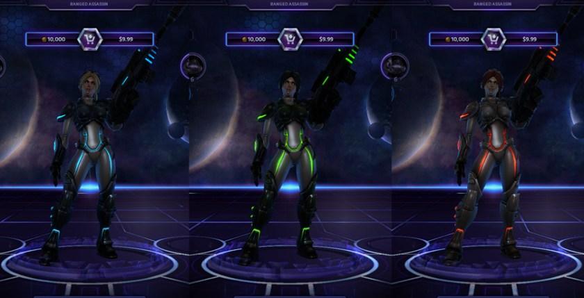 heroes storm Nova skins default