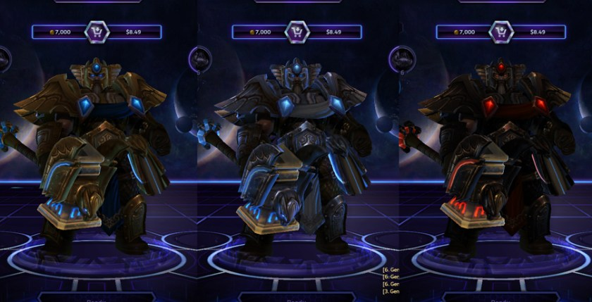 heroes storm Uther skins master