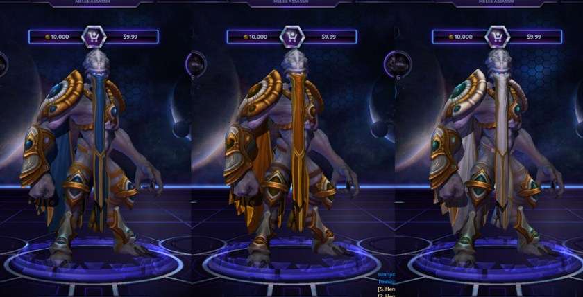 heroes storm Zeratul skins high templar