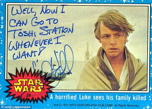 Mark Hamill Star Wars Trading Card Joke 002 Toshi Station Whenever