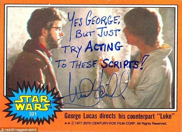 Mark Hamill Star Wars Trading Card Joke 006 George Acting Scripts