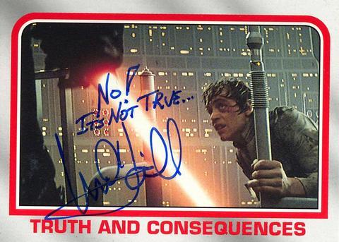Mark Hamill Star Wars Trading Card Joke 020 No Its Not True