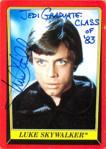 Mark Hamill Star Wars Trading Card Joke 021 Jedi Graduate Class of 83