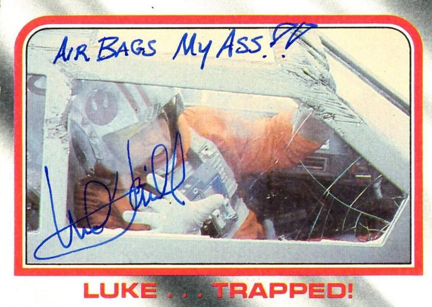 Mark Hamill Star Wars Trading Card Joke 024 Air Bads My Butt