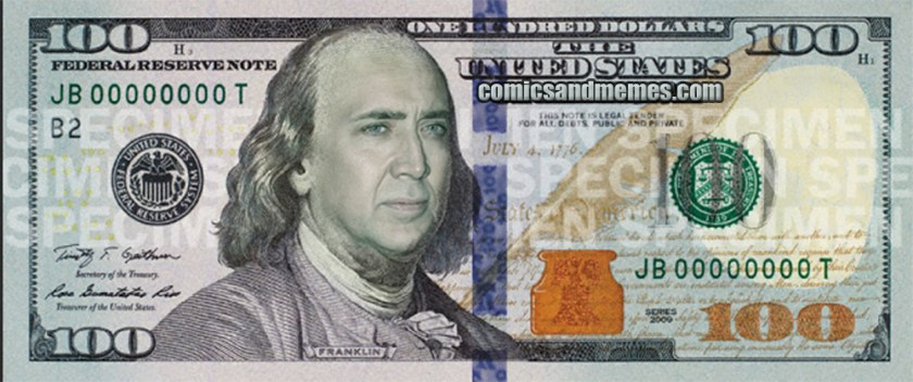 new 100 bill cage