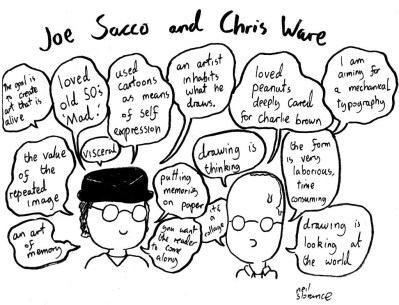 Joe Sacco and Chris Ware by Neil Slorance